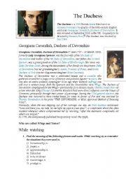 English Worksheets: The Duchess movie KEY