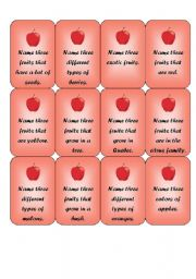 picture about Apples to Apples Cards Printable known as Apples and worms - end result video game (2 of 3) - ESL worksheet via