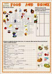 English Worksheet: LET�S REVISE: FOOD AND DRINK
