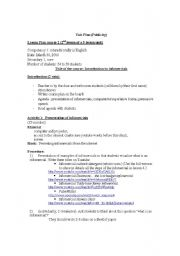 English Worksheets: infomercial lesson 2