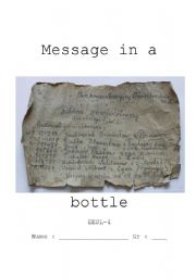 English Worksheets: Message in a bottle