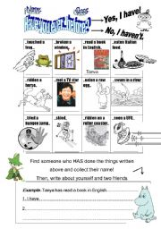 English Worksheets: Have you ever...before?