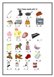 math worksheet : short vowel sound with the letter : Short Vowel Sounds Worksheets For Kindergarten