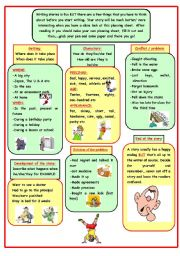 English Worksheet: Story writing (planning sheet 3 pages)