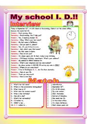 English Worksheet: Asking and Giving Personal Information!