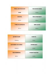 English Worksheet: charade cards