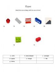 English worksheet: Shapes (Quiz)