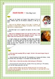 English Worksheets: Go Green: Fast Fact Sheet 1
