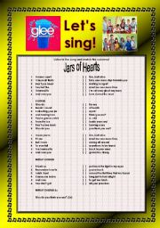 English Worksheet: > Glee Series: Season 2! > Songs For Class! S02E20 *.* Three Songs *.* Fully Editable With Key! *.* Part 2/2