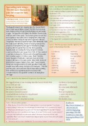 English Worksheets: Thousands taking up hen-keeping!