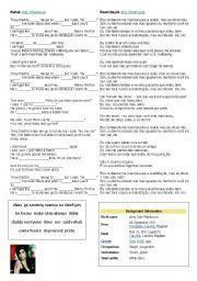 English Worksheet: Rehab from Amy Winehouse