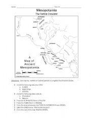 Printables Mesopotamia Worksheets english teaching worksheets mesopotamia map activity