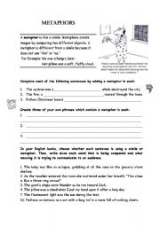Worksheet Metaphor Worksheets english teaching worksheets metaphor metaphor