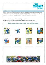 English Worksheets: Smurfs - Movie Activity