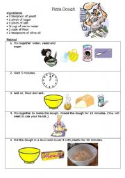 how to make a pizza instructions ks1