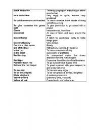 English Worksheets: Black&White