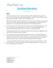 English Worksheets: The Bright Blue Book - Reading comprehension