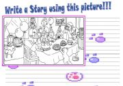 English Worksheets: Writing  A Story!!!