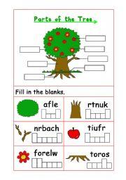 Printables Parts Of A Tree Worksheet english teaching worksheets parts of a tree the tree