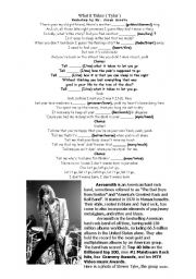 English Worksheet: What it Takes - Aerosmith