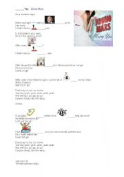 English Worksheets: I want to marry you - Bruno Mars