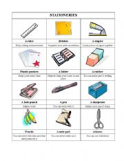 classroom vocabulary stationery esl worksheet by magaaa2. Black Bedroom Furniture Sets. Home Design Ideas