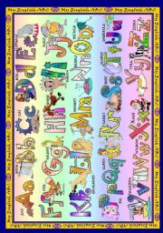 English Worksheet: The Alphabet Poster