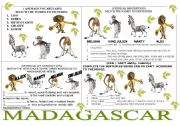 English Worksheet: MADAGASCAR 4 EXERCISES IN ONE PAGE.
