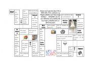 English Worksheet: Predictions game