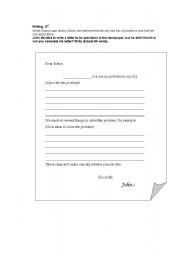Writing a letter to the editor - ESL worksheet by magaeslprintables