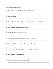 English Worksheets: Beowulf - movie comprehension exercise