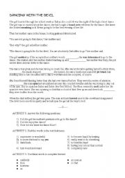 English Worksheets: Dancing with the devil