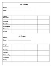 English Worksheets: Behaviour Contract