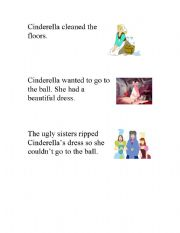 English Worksheet: sequencing Cinderella�s story