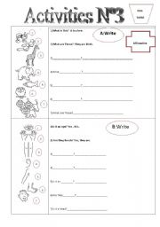 English Worksheets: AcTivities N�3