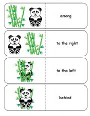 English Worksheets: Where is the Panda Preposition Dominoes and Memory Cards Part 1 of 4
