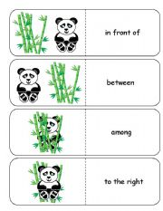 English Worksheets: Where is the Panda Preposition Dominoes and Memory Cards Part 2 of 4