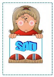 English Worksheet: FEELINGS FLASH CARDS;O)
