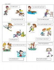 English Worksheets: SPEAKING CARDS ON ABILITY AND PREFERENCES + GERUND