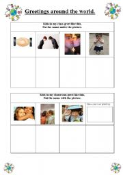English Worksheets: Greetings Around the World