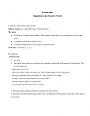English Worksheets: Migration in the Modern World