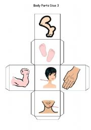 English Worksheets: Body Parts Dice - Part 3