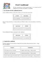 first conditional (conditional type 1) - If