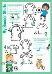 My soccer shirts