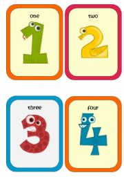 picture relating to Printable Numbers 1 20 Flashcards identified as Quantities 1-9 - ESL worksheet by means of Krümel