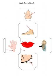 English Worksheets: Body Parts Dice - Part 5 of 5