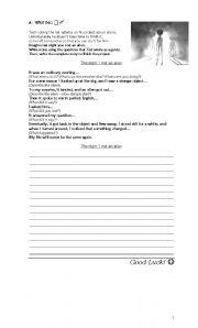 English Worksheets: Writing a story