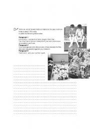 English Worksheets: Writing - Childhood habits