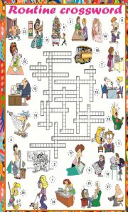 English Worksheets: Daily Routine Crossword