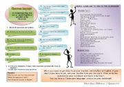 English Worksheet: Let�s Use English in the Class: Classroom Language